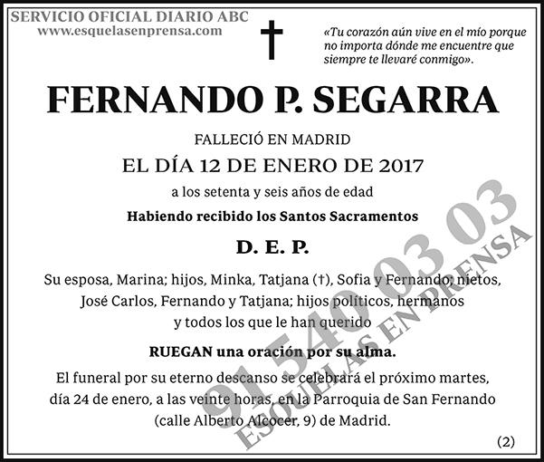 Fernando P. Segarra
